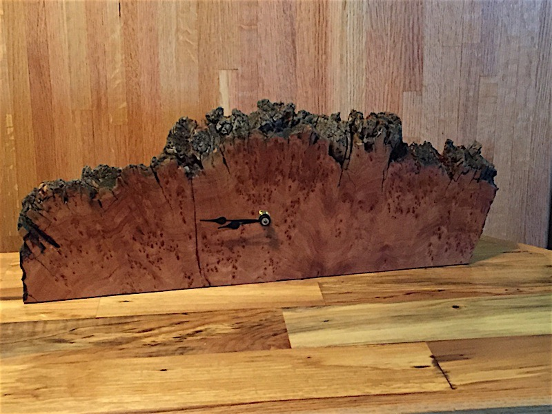 Burl Wall Mantle Clock