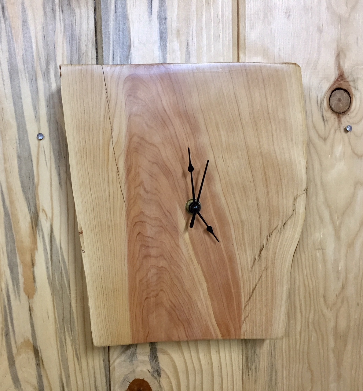 Urban Pine Wood Wall Clock