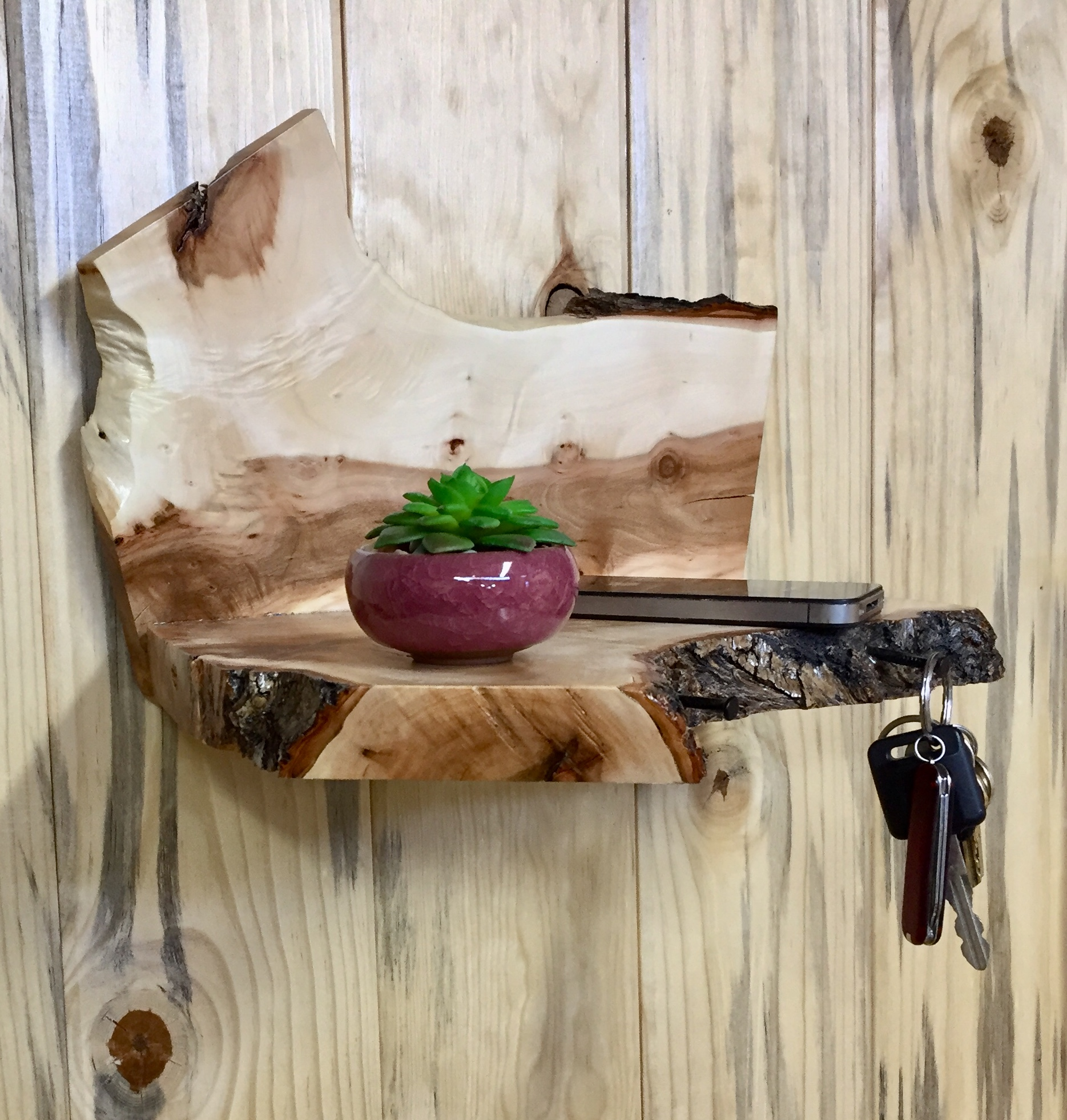 Urban Willow Wood Wall Shelf