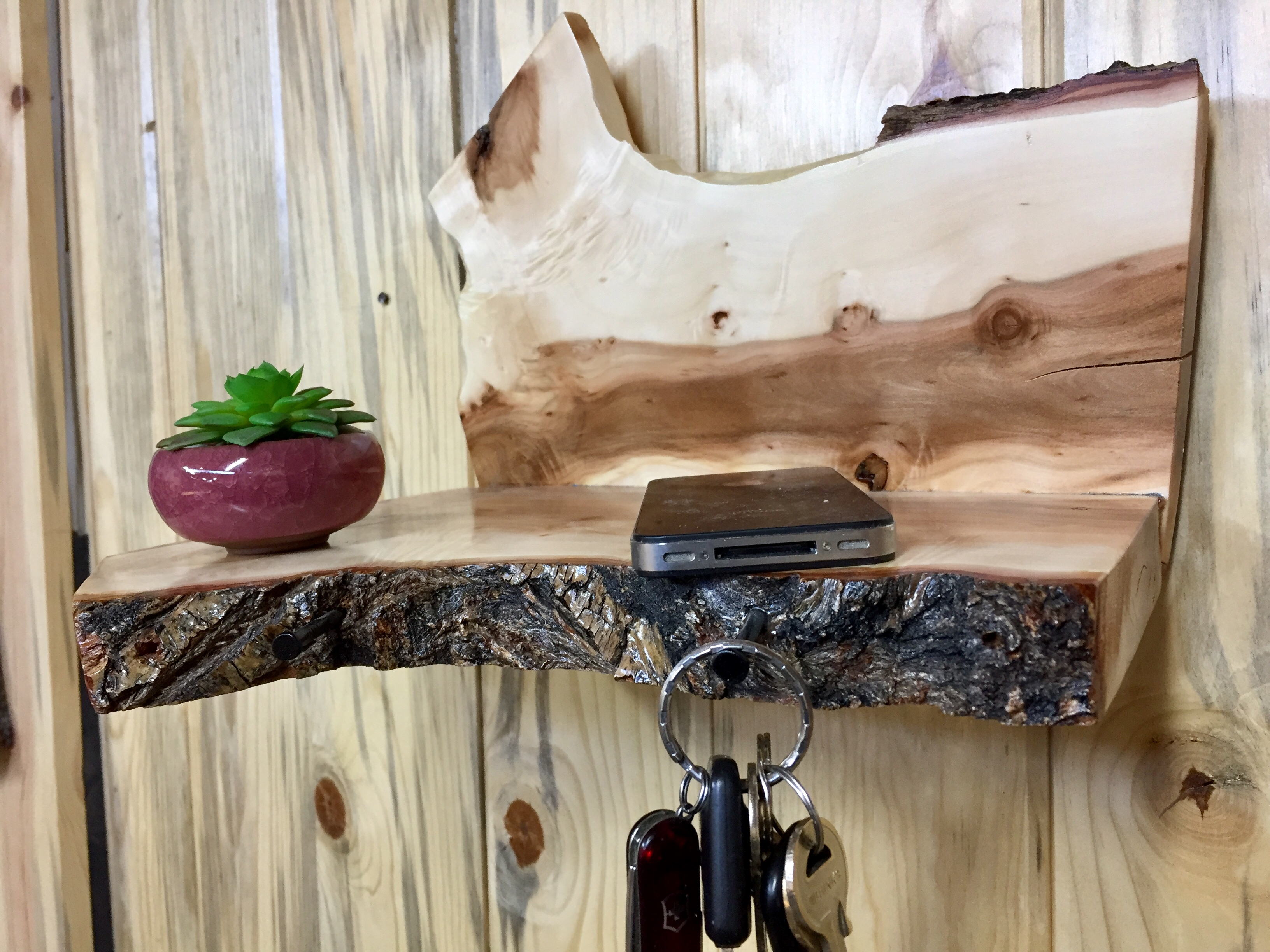 Urban Willow Wood Wall Shelf